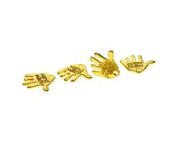 1 Metal Charms Gold Handmade Hand Charms 12mm