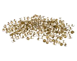10g Czech Glass Seed Beads Gold Farfalle 2mm