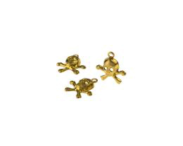 1 Metal Halloween Charms Brass Skull Charms 12mm
