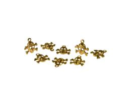 1 Metal Halloween Charms Brass Skull Charms 9mm