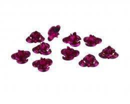 20 Aluminium Flowers Embellishments Fuchsia 10mm
