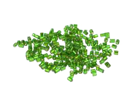 10g Glass Seed Beads Emerald Hex 2-Cut Size 9-0