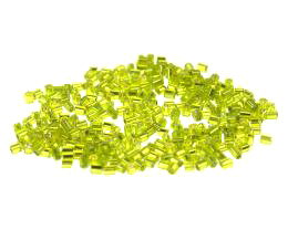 10g Glass Seed Beads Lime Green Hex 2-Cut Size 9-0