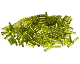 10g Bugle Beads Lime Green Chinese Glass Size 3