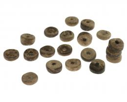50 Coconut Wood Beads Light Brown Discs 3mm x 8mm