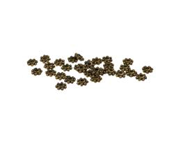 25 Metal Beads Bronze Daisy Spacer Bead 4mm