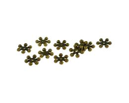 20 Metal Beads Bronze Snowflake Spacer Bead 7mm