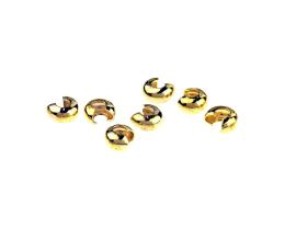 20 Crimp Bead Covers Gold Plated Crimp Cover 6mm