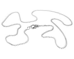 1 Necklace Chains Silver Plated Curb Chain 45cm