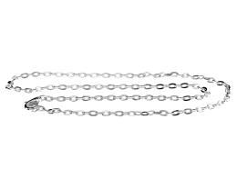 1 Necklace Chains Silver Plated Cable Chain 40cm