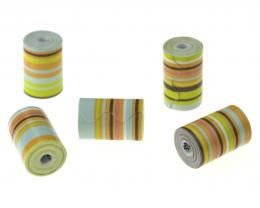 1 Handmade Paper Beads Green Onion Tubes 15mm
