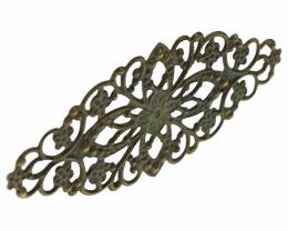 1 Filigree Fancy Embellishments Bronze Finish 81mm