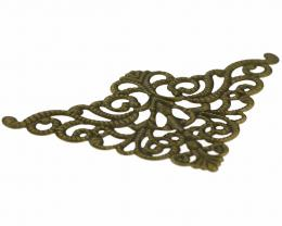 1 Filigree Triangles Embellishments Bronze 76mm