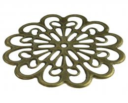 1 Filigree Embellishments Bronze Flowers 62mm