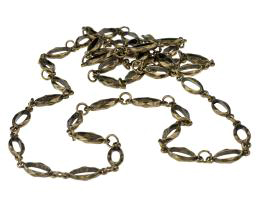 1m Bronze Ring Connector Chain Antique Gold 20mm
