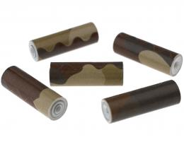1 Handmade Paper Beads Brown Fatigue Tubes 25mm