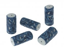 1 Handmade Polymer Clay Beads Sprig Water Tubes