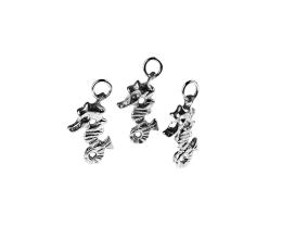 1 Handmade Pewter Charms Seahorses 16mm