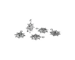 1 Metal Charms Silver Sun Charms 14mm