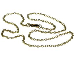 1 Necklace Chains Bronze Cable Chain 45cm