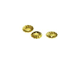20 Bead Caps Gold Plated Flower Bead Cap 9.5mm