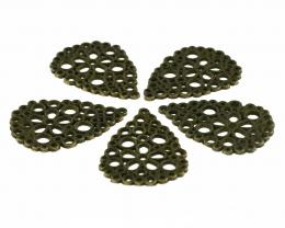 1 Filigree Flowers Embellishments Bronze 28mm