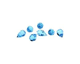 1 Preciosa Crystal Beads Aquamarine Drops 10mm