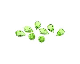 1 Preciosa Crystal Beads Peridot Green Drops 10mm