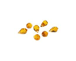 1 Preciosa Crystal Beads Topaz Drops 10mm