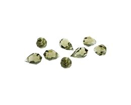 1 Preciosa Crystal Beads Black Diamond Drop 10mm