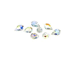 1 Preciosa Crystal Beads Clear Drop Bead AB 10mm