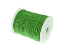 1m Waxed Cotton Cord Lime Green Wax Cords 1mm