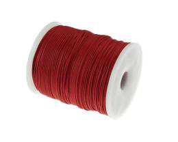 1m Waxed Cotton Cord Red Wax Cords Braided 1mm