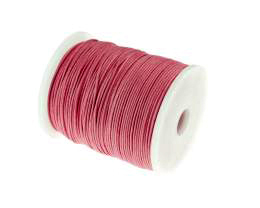 1m Waxed Cotton Cord Pink Wax Cords Braided 1mm