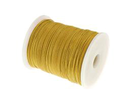 1m Waxed Cotton Cord Yellow Wax Cords Braided 1mm