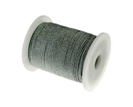 1m Metallic Cord Silver Waxed Synthetic Cord 0.5mm