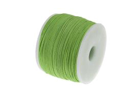1m Waxed Cotton Cord Lime Green Wax Cords 0.5mm