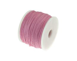 1m Waxed Cotton Cord Pink Wax Cords Braided 0.5mm