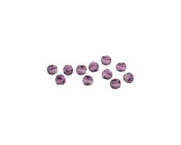 12 Preciosa Crystal Beads Amethyst Rounds 4mm