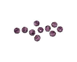 10 Preciosa Crystal Beads Amethyst Rounds 6mm