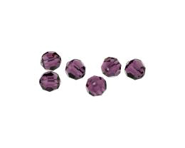 5 Preciosa Crystal Beads Amethyst Rounds 8mm