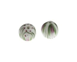 1 Handmade Ceramic Beads Madison Mauve 13mm