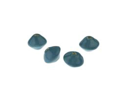 1 Handmade Ceramic Beads Glazed Teal Saucers 8mm