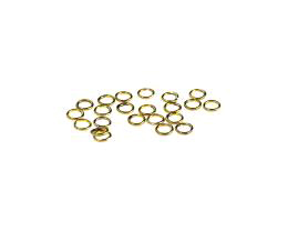 50 Jump Rings Solid Brass Open Jump Ring 4.4mm