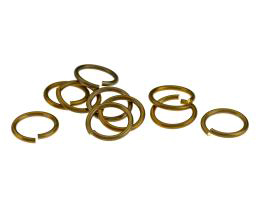10 Jump Rings Brass Open Jump Ring 13mm x 1.5mm