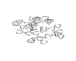 25 Pendant Bails Silver Plated Triangle Bail 7mm