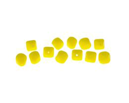10 Czech Glass Beads Yellow Square Bicone Bead 8mm