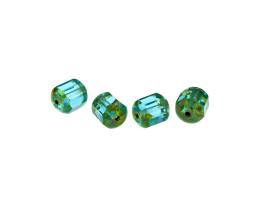 1 Czech Glass Beads Aqua Blue Picasso Beads 10mm