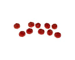 20 Czech Glass Beads Red Opaque Beads 6mm