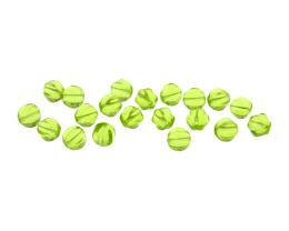 20 Czech Glass Beads Peridot Green Melon Bead 6mm